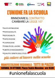 Manifestazione scuola 24 ottobre 2015