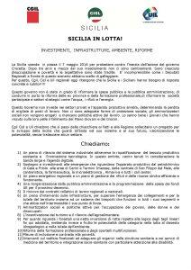 sicilia in lotta - traccia documento